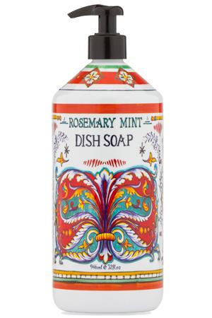 Dish Soap Italian Deruta Rosemary Mint