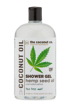 Shower Gel The Coconut Co. Hemp Seed Oil Tea Tree Mint